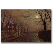 "Trademark Global John Atkinson Grimshaw ""Moonlit Street Scene"" Canvas Art, 16"" x 24"""