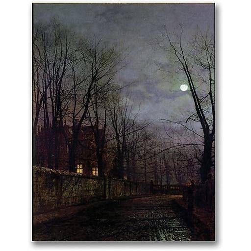 "Trademark Global John Atkinson Grimshaw ""Moonlit Street Scene II"" Canvas Art, 32"" x 24"""