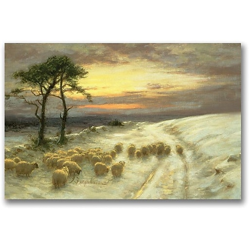"""Trademark Global Joseph Farquharson """"Sheep in the Snow"""" Canvas Art, 30"""" x 47"""""""
