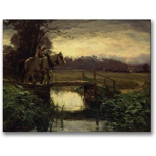 "Trademark Global David Farquharson ""Grey Morning"" Canvas Art, 35"" x 47"""