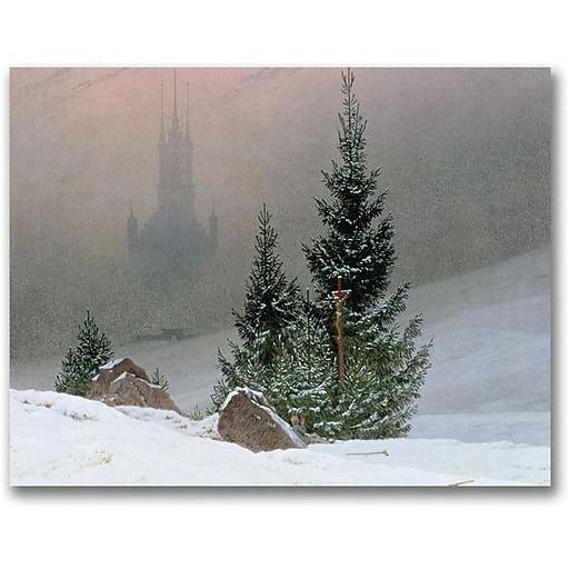 "Trademark Global Caspar David Friedrich ""Winter Landscape"" Canvas Art, 35"" x 47"""