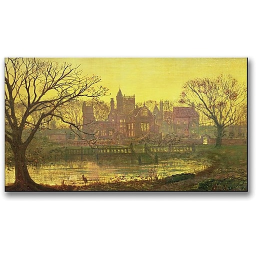"Trademark Global John Atkinson Grimshaw ""The Moated Grange"" Canvas Art, 30"" x 47"""