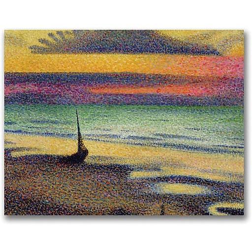 "Trademark Global George Lemmen ""The Beach at Heist"" Canvas Art, 35"" x 47"""