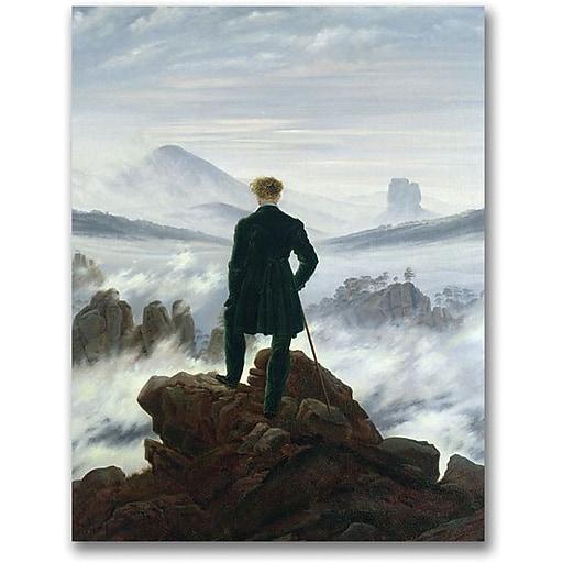 """Trademark Global Caspar David Friedrich """"The Wanderer Above the Fog"""" Canvas Art, 47"""" x 35"""""""