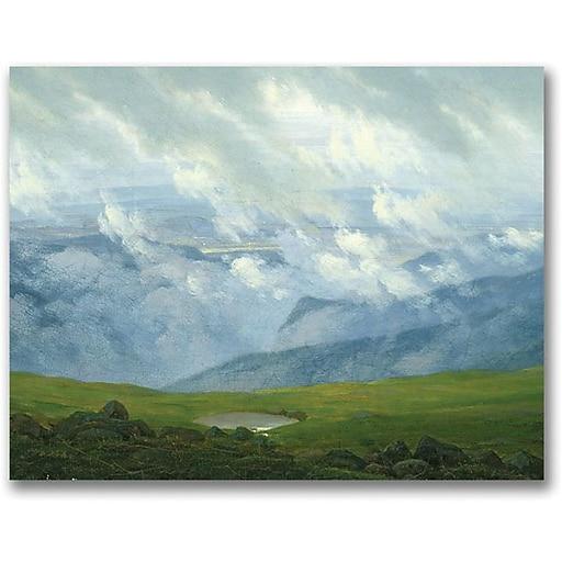 """Trademark Global Caspar David Friedrich """"Drifting Clouds"""" Canvas Art, 18"""" x 24"""""""