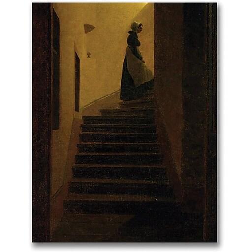 "Trademark Global Caspar David Friedrich ""Caroline on the Stairs"" Canvas Art, 24"" x 18"""