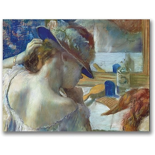 """Trademark Global Edgar Degas """"In Front of the Mirror"""" Canvas Art, 18"""" x 24"""""""