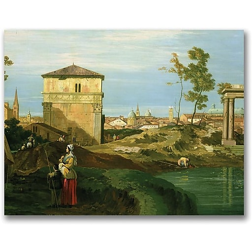 "Trademark Global Canaletto ""Detail of Capriccio with Motifs"" Canvas Art, 35"" x 47"""