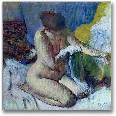 "Trademark Global Edgar Degas ""After the Bath"" Canvas Art, 18"" x 18"""