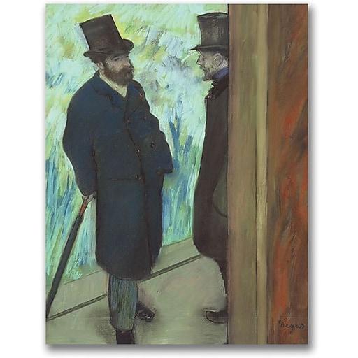 "Trademark Global Edgar Degas ""Friends at the Theatre"" Canvas Art, 47"" x 35"""