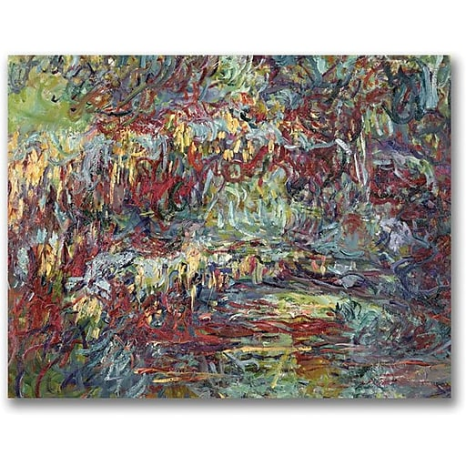 "Trademark Global Claude Monet ""The Japanese Bridge Giverny"" Canvas Art, 35"" x 47"""