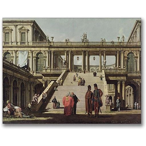 "Trademark Global Canatello ""Castle Courtyard 1762"" Canvas Art, 24"" x 32"""