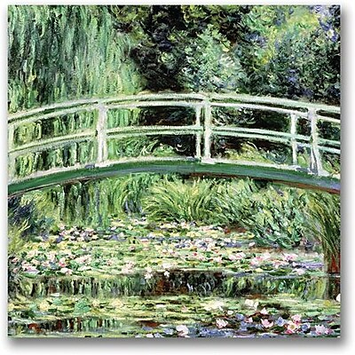 "Trademark Global Claude Monet ""White Waterlillies 1889"" Canvas Art, 18"" x 18"""