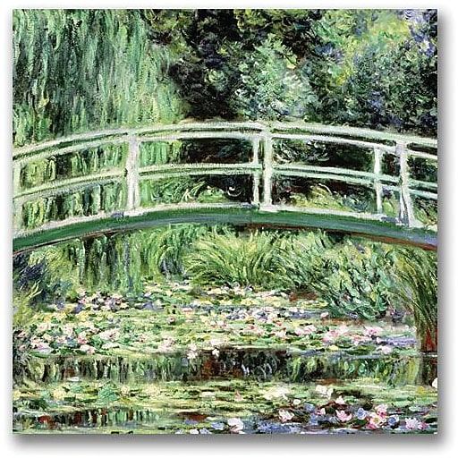 "Trademark Global Claude Monet ""White Waterlillies 1889"" Canvas Art, 24"" x 24"""