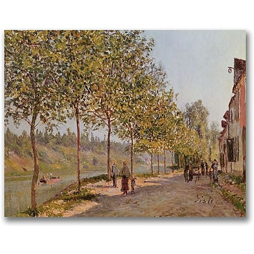 "Trademark Global Alfred Sisley ""June Morning in Saint Mammes"" Canvas Art, 35"" x 47"""