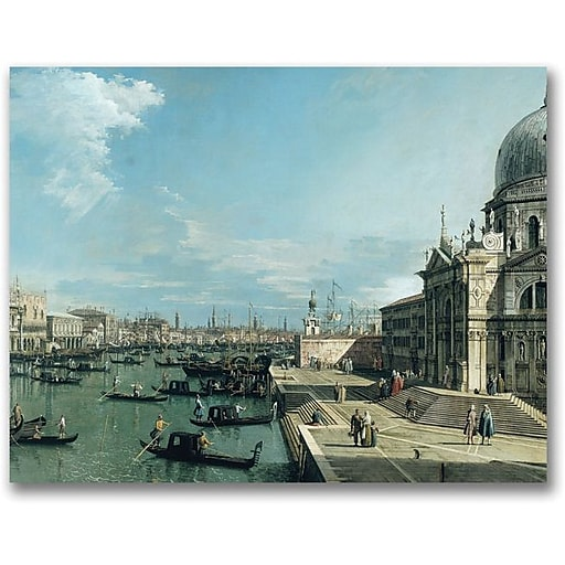 """Trademark Global Canaletto """"The Entrance to the Grand Canal"""" Canvas Art, 18"""" x 24"""""""