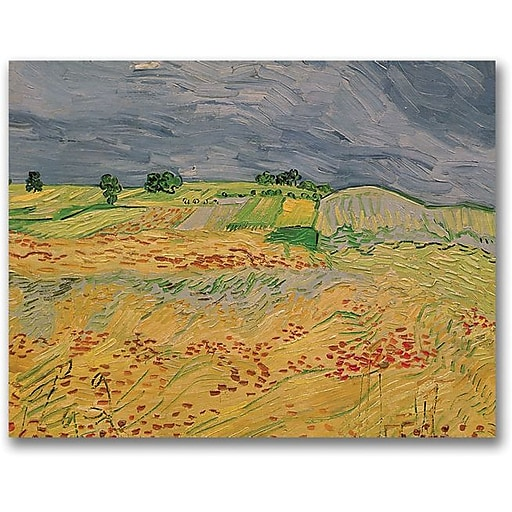 "Trademark Global Vincent Van Gogh ""Plain At Auvers, 1890"" Canvas Art, 24"" x 32"""