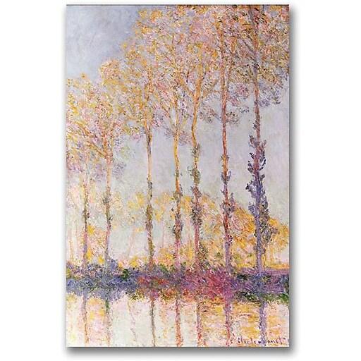 "Trademark Global Claude Monet ""Poplars on the Banks of the Epte"" Canvas Art, 47"" x 35"""