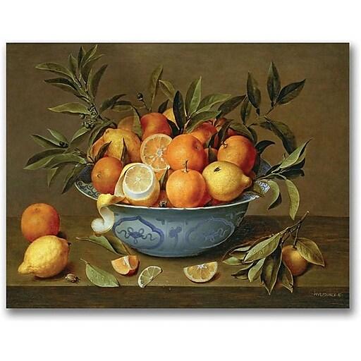 "Trademark Global Jacob Van Hulsdonck ""Still Life with Oranges"" Canvas Art, 35"" x 47"""