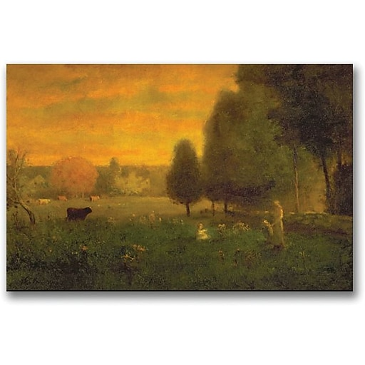 "Trademark Global George Inness ""Sundown Brillance"" Canvas Art, 30"" x 47"""