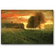 "Trademark Global George Inness ""Sunset Montclair 1892"" Canvas Art, 30"" x 47"""