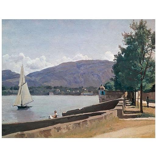 "Trademark Global Jean Baptiste Corot ""The Quai des Paquis"" Canvas Art, 35"" x 47"""