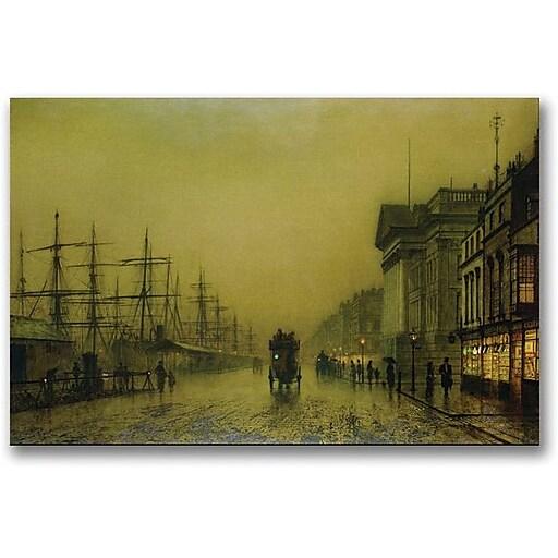 "Trademark Global John Atkinson Grimshaw ""Liverpool Docks Custom House"" Canvas Art, 16"" x 24"""
