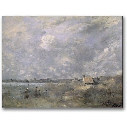 "Trademark Global Jean Baptiste Corot ""Stormy Weather"" Canvas Art, 18"" x 24"""