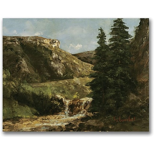 "Trademark Global Gustave Courbet ""Landscape near Ornans"" Canvas Art, 18"" x 24"""
