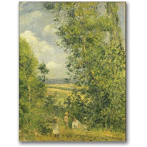 """Trademark Global Camille Pissarro """"A Rest In The Meadow"""" Canvas Art, 32"""" x 24"""""""