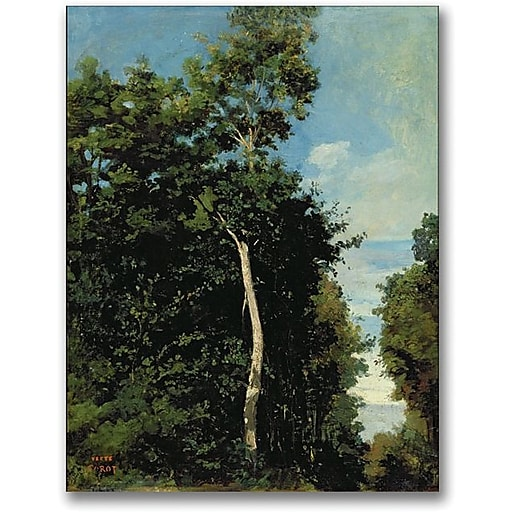 "Trademark Global Jean Baptiste Corot ""The Wood on the Cote de Grace"" Canvas Art, 24"" x 18"""