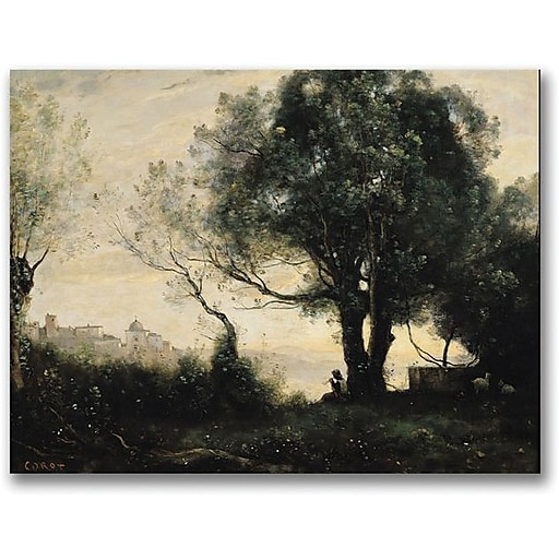 "Trademark Global Jean Baptiste Corot ""Souvenir of Castel Gandolfo"" Canvas Art, 35"" x 47"""