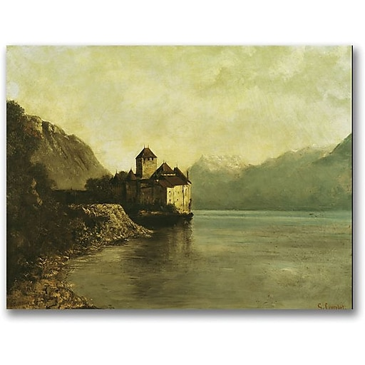 "Trademark Global Gustave Courbet ""Chateau de Chillon 1874"" Canvas Art, 35"" x 47"""