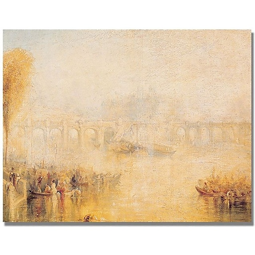"Trademark Global Joseph Turner ""View of the Pont Neuf"" Canvas Art, 35"" x 47"""