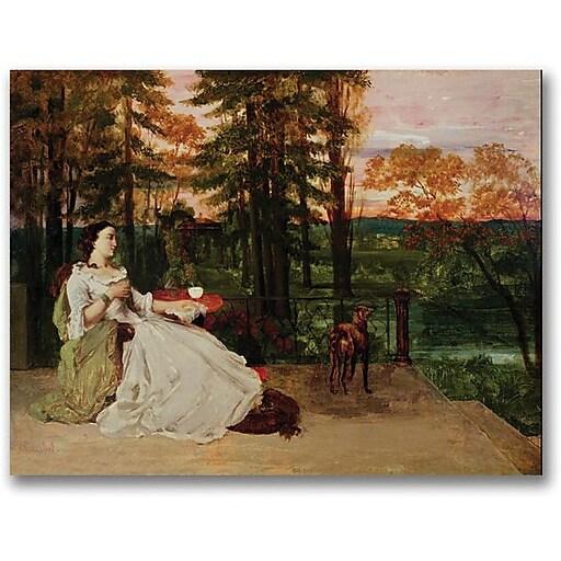 "Trademark Global Gustave Courbet ""Woman of Frankfurt"" Canvas Art, 35"" x 47"""