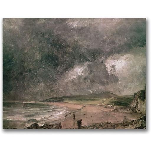 "Trademark Global John Constable ""Weymouth Bay Storm"" Canvas Art, 18"" x 24"""