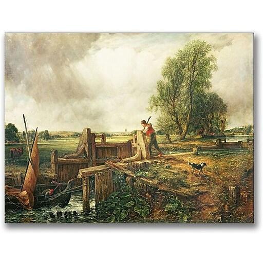"Trademark Global John Constable ""A Passing a Lock"" Canvas Art, 18"" x 24"""