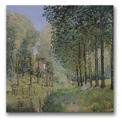 """Trademark Global Alfred Sisley """"The Rest by the Stream"""" Canvas Art, 18"""" x 18"""""""