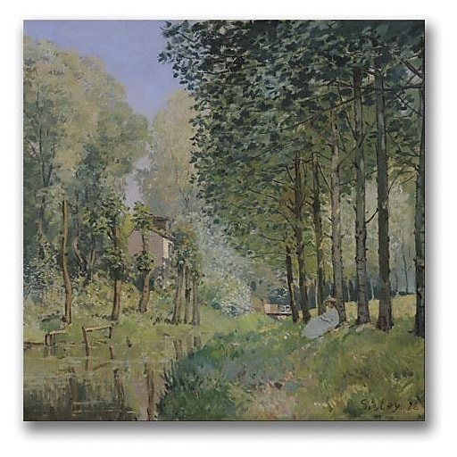"""Trademark Global Alfred Sisley """"The Rest by the Stream"""" Canvas Art, 24"""" x 24"""""""