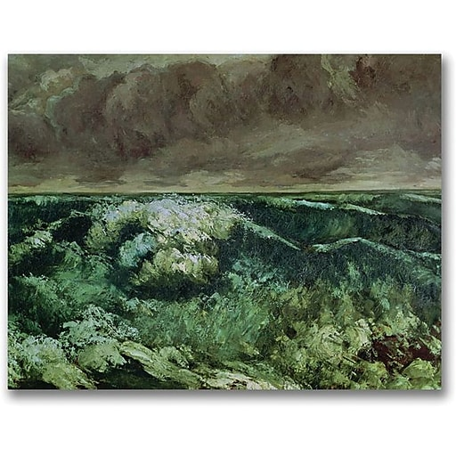 """Trademark Global Gustave Courbet """"The Wave, After 1870"""" Canvas Art, 18"""" x 24"""""""