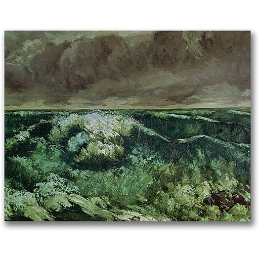 """Trademark Global Gustave Courbet """"The Wave, After 1870"""" Canvas Art, 35"""" x 47"""""""