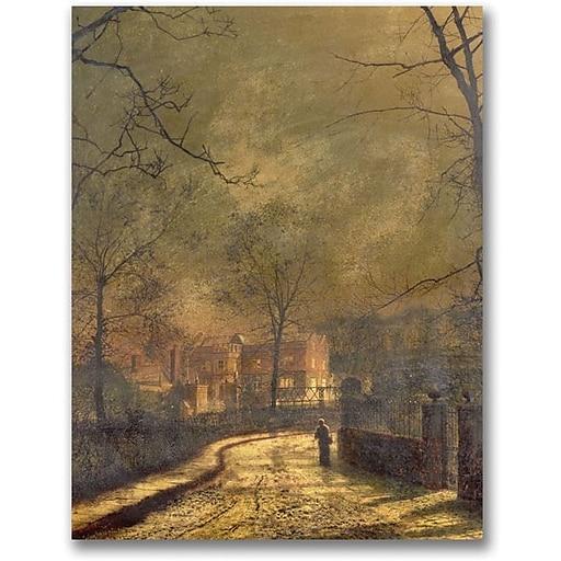 "Trademark Global John Atkinson Grimshaw ""Autumn Scene 1874"" Canvas Art, 32"" x 24"""