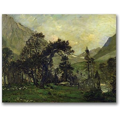 "Trademark Global Charles Daubigny ""The Mahoura at Cauterets"" Canvas Art, 35"" x 47"""