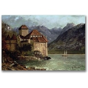 "Trademark Global Gustave Courbet ""The Chateau de Chillon"" Canvas Art, 30"" x 47"""