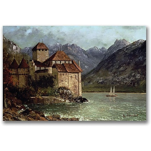 """Trademark Global Gustave Courbet """"The Chateau de Chillon"""" Canvas Art, 30"""" x 47"""""""
