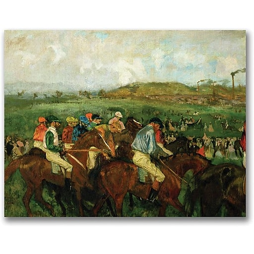 "Trademark Global Edgar Degas ""Gentleman Race Before Depure"" Canvas Art, 35"" x 47"""