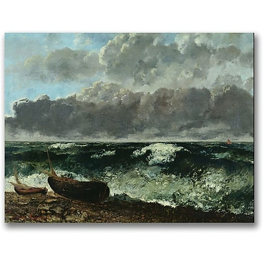 """Trademark Global Gustave Courbet """"The Stormy Sea"""" Canvas Art, 24"""" x 32"""""""