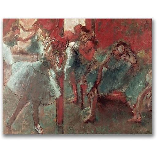 "Trademark Global Edgar Degas ""Dancers at Rehearsal, 1895-98"" Canvas Art, 35"" x 47"""