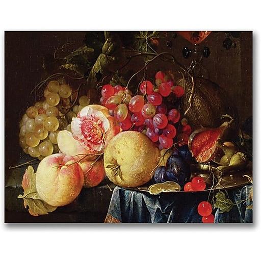"Trademark Global Cornelis De Heem ""Still Life II"" Canvas Art, 18"" x 24"""