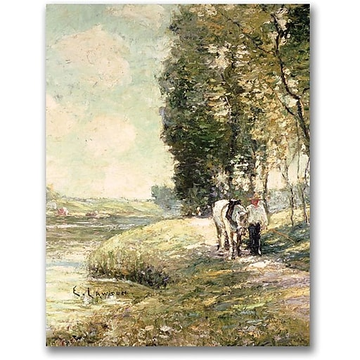 "Trademark Global Ernest Lawson ""Country Road to Spuyten"" Canvas Art, 32"" x 24"""